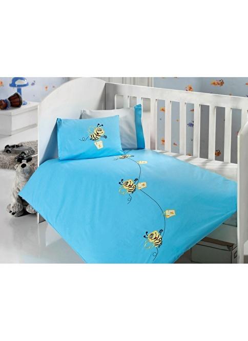 Sunny Funny Çalışkan Arılar Turkuaz Bebek Nevresim Takımı Turkuaz